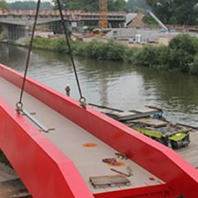 Nieuwe fietsbrug over Scheldekanaal in Zwijnaarde