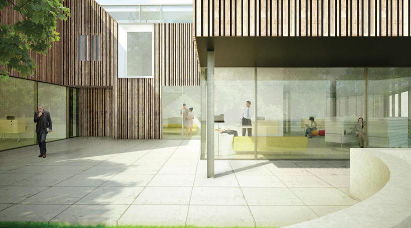 Houten kantoorgebouw van reyschoot nadert oplevering gentcement - Model bibliotheek houten ...