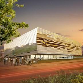 Reflecterende uitbreiding en renovatie voor sporthal Schoonmeersen