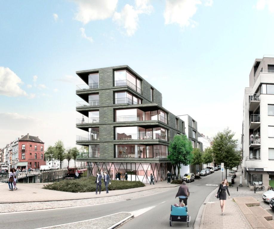 Nieuw appartementscomplex vervangt huis mortier aan de for Dat architecten