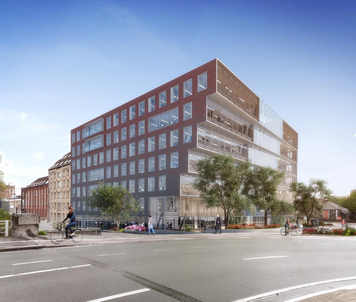 Startschot voor duurzaam kantoorgebouw aan dampoort for Dat architecten