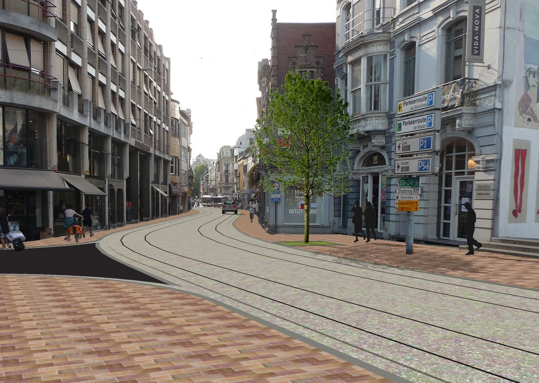 Stuk Brabantdam tussen Laurentplein en Lippensplein
