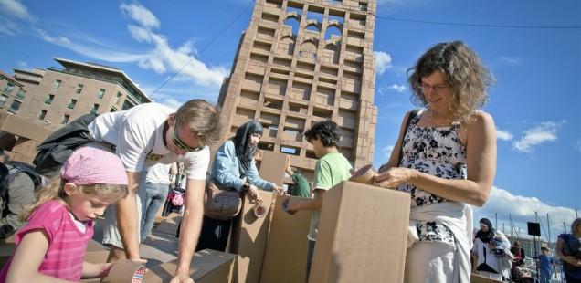 Bouw mee aan een architecturaal pareltje van karton op Gentse Feesten