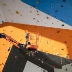 Werf-update: Kleurrijke buitenwand voor nieuwe klimzaal Bleau
