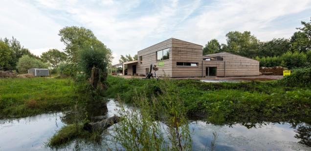 Klimaatneutrale loods voor Natuurpunt aan rand van Gentbrugse Meersen