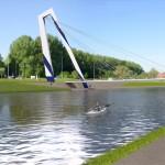 Nieuwe fiets- en voetgangersbrug over de Watersportbaan