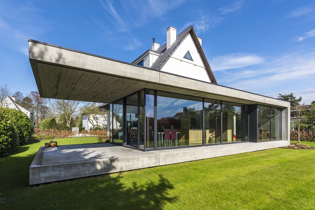 Meest effectief 4265 moderne woning met veel glas behang beste voorbeelden afbeeldingen - Moderne uitbreiding huis ...
