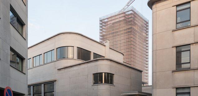 Werfupdate: vers laagje beton voor gevel van Boekentoren