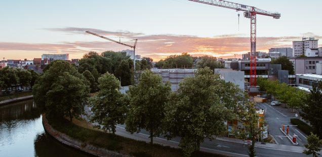 Werfupdate van bovenaf: nieuwe sporthal Henleykaai in vorm
